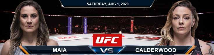 UFC Fight Night 173 Maia vs Calderwood 08-01-2020 Picks Predictions and Previews