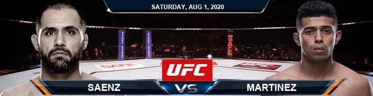 UFC Fight Night 173 Saenz vs Martinez 08-01-2020 Game Analysis Forecast and Betting Tips
