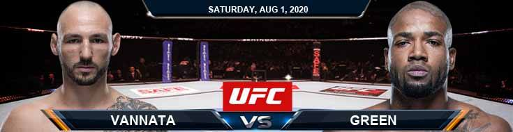UFC Fight Night 173 Vannata vs Green 08-01-2020 Previews Spread and Fight Analysis