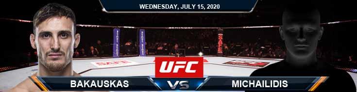 UFC on ESPN 13 Bukauskas vs Michailidis 07-15-2020 Picks Predictions and Odds