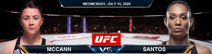 UFC on ESPN 13 McCann vs Santos 07-15-2020 Picks Predictions Previews