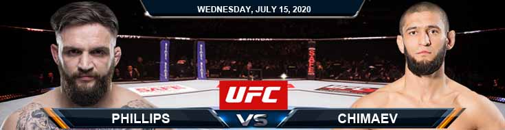 UFC on ESPN 13 Phillips vs Chimaev 07-15-2020 Forecast Spread and Fight Analysis