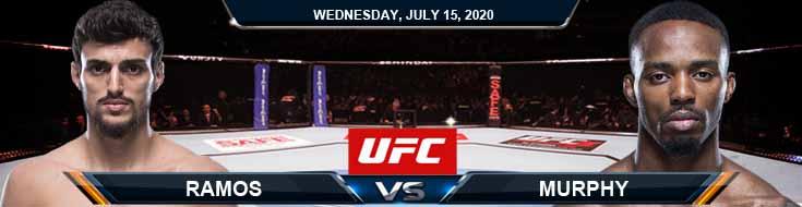 UFC on ESPN 13 Ramos vs Murphy 07-15-2020 Previews Picks and Odds
