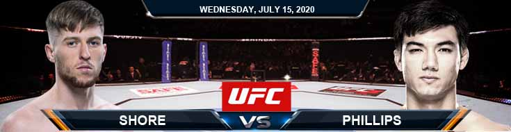 UFC on ESPN 13 Shore vs Phillips 07-15-2020 Picks Predictions and Previews