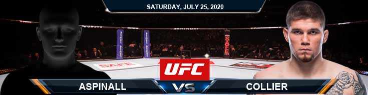 UFC on ESPN 14 Aspinall vs Collier 07-25-2020 Fight Analysis Tips and Betting Results