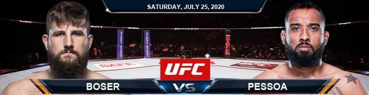 UFC on ESPN 14 Boser vs Pessoa 07252020 Fight Analysis, Odds and Previews
