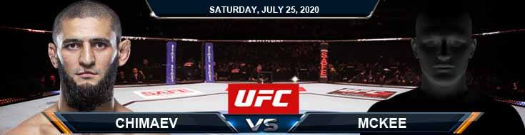 UFC on ESPN 14 Chimaev vs McKee 07-25-2020 Picks Predictions and Previews