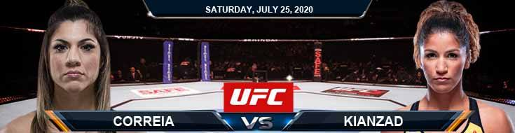 UFC on ESPN 14 Correia vs Kianzad 07-25-2020 Forecast Analysis and Picks
