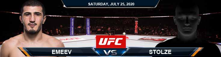 UFC on ESPN 14 Emeev vs Stolze 07-25-2020 Picks Betting Predictions and Previews
