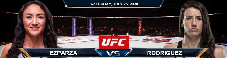 UFC on ESPN 14 Esparza vs Rodriguez 07-25-2020 Fight Analysis Odds and Forecast