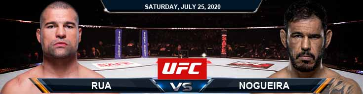 UFC on ESPN 14 Rua vs Nogueira 07-25-2020 Previews Betting Spread and Fight Analysis