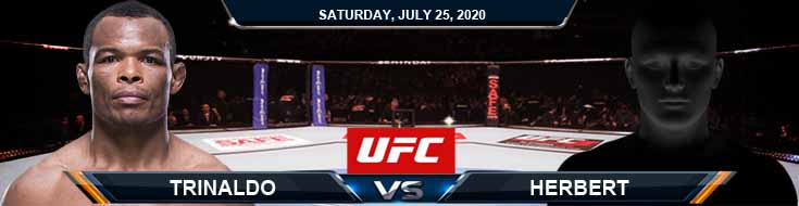 UFC on ESPN 14 Trinaldo vs Herbert 07-25-2020 Predictions Tips and Betting Previews