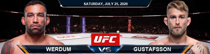 UFC on ESPN 14 Werdum vs Gustafsson 07-25-2020 Picks Predictions and Previews