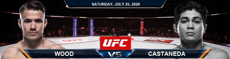UFC on ESPN 14 Wood vs Castaneda 07-25-2020 Betting Spread Predictions and Tips