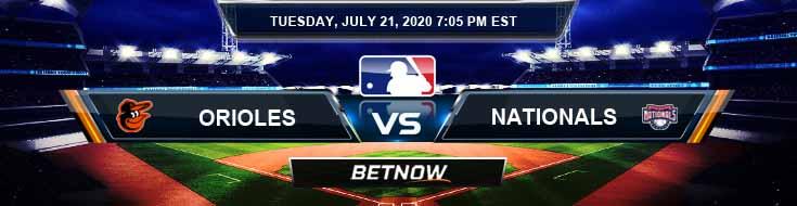 Washington Nationals vs Baltimore Orioles 07-21-2020 MLB Odds Betting Picks and Baseball Predictions