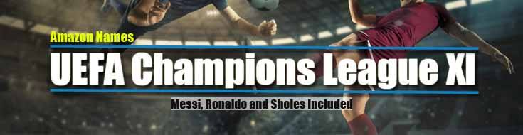 Amazon Names UEFA Champions League XI: Messi Ronaldo And Sholes Included