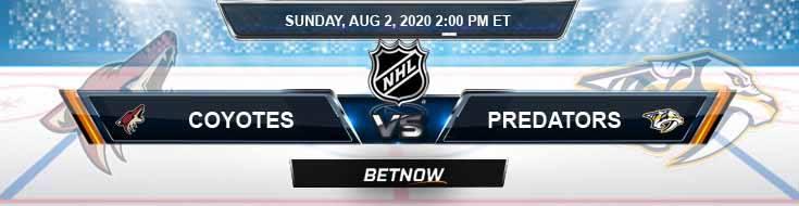 Arizona Coyotes vs Nashville Predators 08-02-2020 NHL Spread Game Analysis and Previews