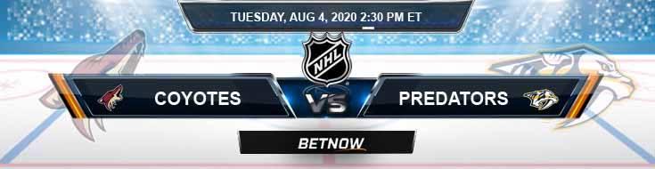 Arizona Coyotes vs Nashville Predators 08-04-2020 NHL Previews Spread and Game Analysis