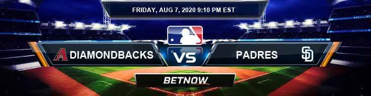 Arizona Diamondbacks vs San Diego Padres 08-07-2020 MLB Picks Predictions and Baseball Previews