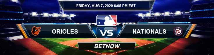 Baltimore Orioles vs Washington Nationals 08-07-2020 MLB Odds Picks and Baseball Predictions