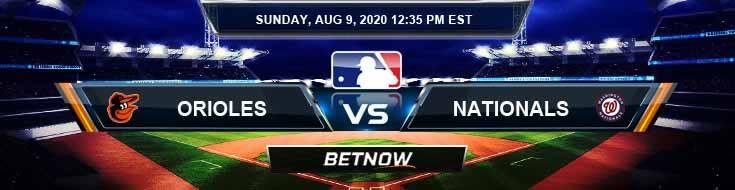 Baltimore Orioles vs Washington Nationals 08-09-2020 MLB Results Analysis and Baseball Forecast