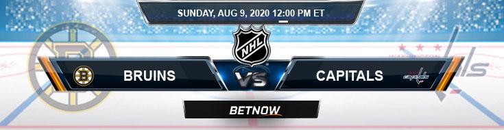 Boston Bruins vs Washington Capitals 08-09-2020 NHL Picks Spread & Game Analysis