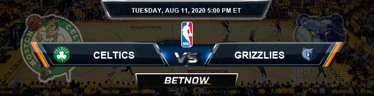 Boston Celtics vs Memphis Grizzlies 8-11-2020 Spread Picks and Prediction