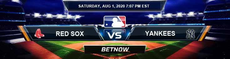 Boston Red Sox vs New York Yankees 08-01-2020 MLB Results Odds and Baseball Picks