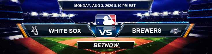 Chicago White Sox vs Milwaukee Brewers 08-03-2020 MLB Picks Results and Baseball Predictions