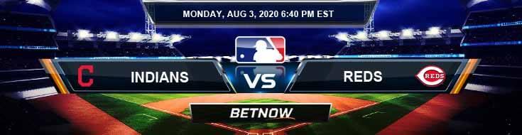 Cleveland Indians vs Cincinnati Reds 08-03-2020 MLB Odds Results and Baseball Picks