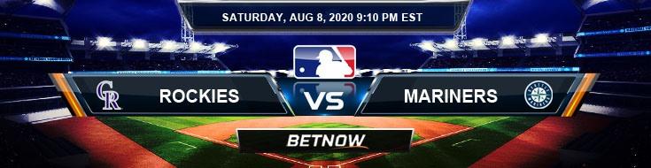Colorado Rockies vs Seattle Mariners 08-08-2020 MLB Picks Predictions and Baseball Previews