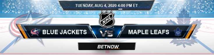 Columbus Blue Jackets vs Toronto Maple Leafs 08-04-2020 NHL Spread Predictions and Betting Odds