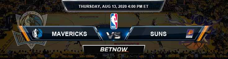 Dallas Mavericks vs Phoenix Suns 8-13-2020 Spread Picks and Previews
