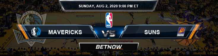 Dallas Mavericks vs Phoenix Suns 8-2-2020 Spread Picks and Prediction
