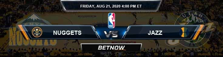 Denver Nuggets vs Utah Jazz 8-21-2020 Odds Previews and Game Analysis