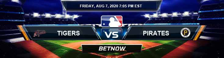 Detroit Tigers vs Pittsburgh Pirates 08-07-2020 MLB Predictions Previews and Baseball Spread