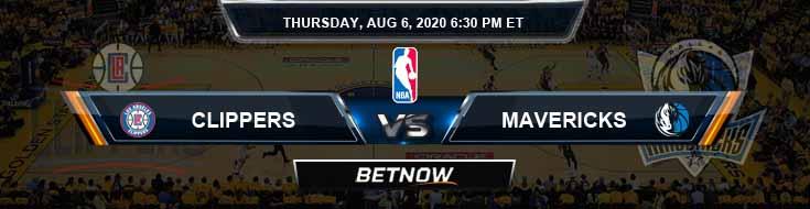 Los Angeles Clippers vs Dallas Mavericks 8-6-2020 Odd Picks and Previews