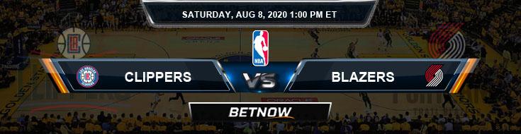 Los Angeles Clippers vs Portland Trail Blazers 8-8-2020 NBA Spread and Picks