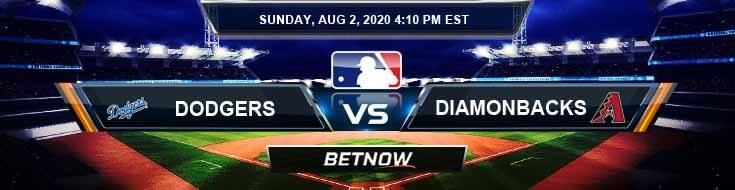 Los Angeles Dodgers vs Arizona Diamondbacks 08-02-2020 MLB Previews Spread and Game Analysis