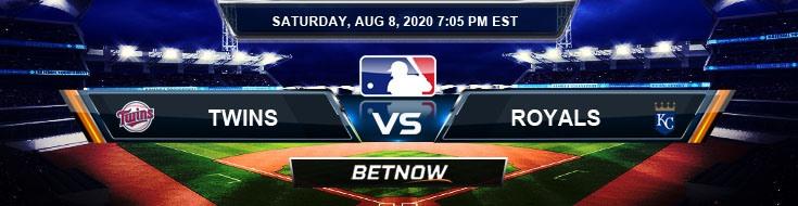 Minnesota Twins vs Kansas City Royals 08-08-2020 MLB Forecast Analysis and Baseball Results