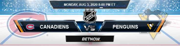 Montreal Canadiens vs Pittsburgh Penguins 08-03-2020 NHL Previews Game Analysis and Picks