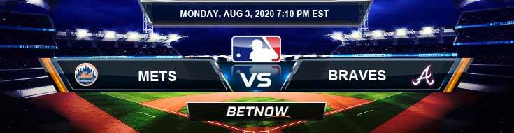 New York Mets vs Atlanta Braves 08-03-2020 MLB Spread Forecast and Game Analysis