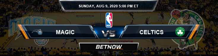 Orlando Magic vs Boston Celtics 8-9-2020 Spread Odds and Prediction