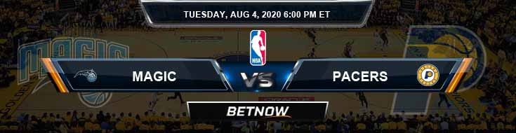 Orlando Magic vs Indiana Pacers 8-4-2020 Previews Spread and Picks