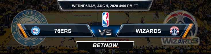 Philadelphia 76ers vs Washington Wizards 8-5-2020 Odds Picks and Previews