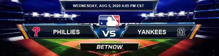 Philadelphia Phillies vs New York Yankees 08-05-2020 MLB Forecast Analysis and Baseball Results