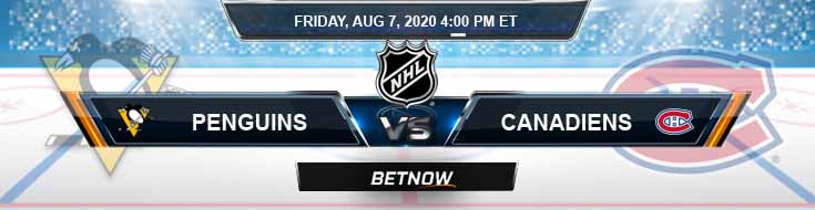 Pittsburgh Penguins vs Montreal Canadiens 08-07-2020 NHL Spread Odds & Predictions