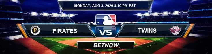 Pittsburgh Pirates vs Minnesota Twins 08-03-2020 MLB Baseball Tips and Betting Odds