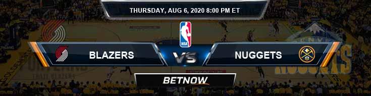 Portland Trail Blazers vs Denver Nuggets 8-6-2020 Odds Picks and Previews