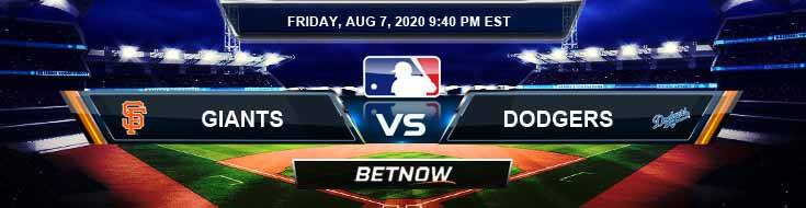 San Francisco Giants vs Los Angeles Dodgers 08-07-2020 MLB Previews Spread and Game Analysis